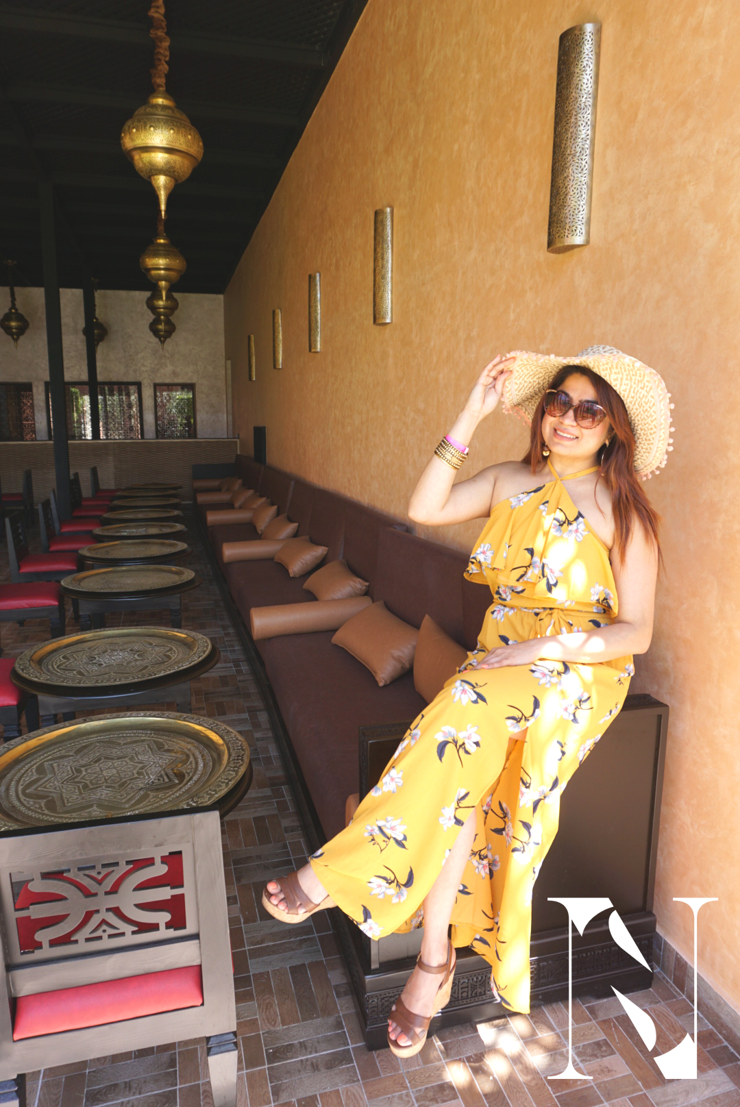Maxi, hat , holidaywear, marrakesh