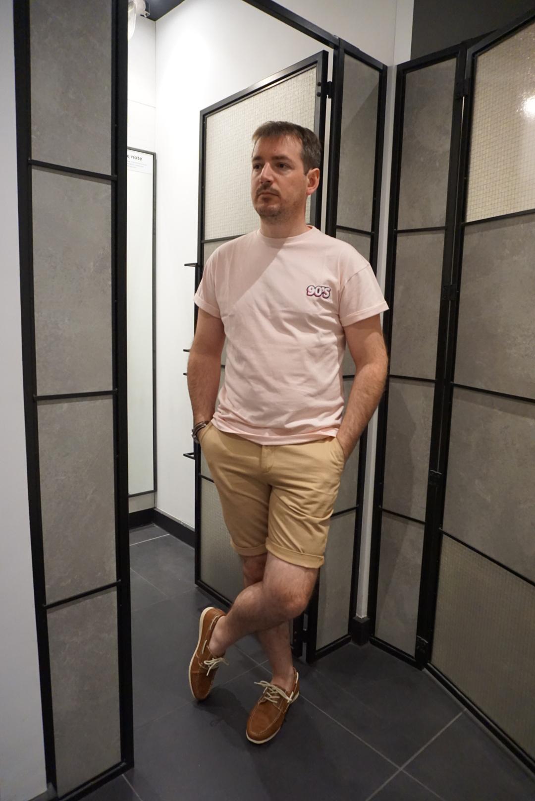 mens tee & shorts