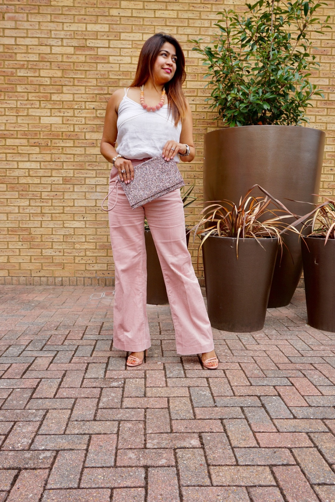 corduroy wide leg trousers