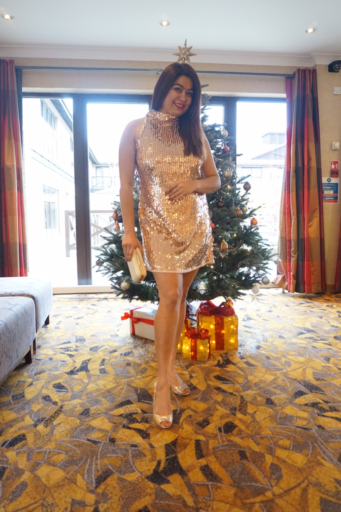 sequinned party wear dress